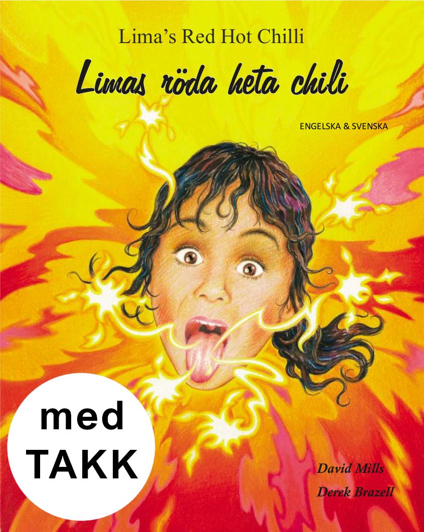 Limas röda heta chili svenska och engelska med TAKK bilaga