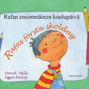 bild på omslaget till boken Rafas första skoldag på svenska och finska